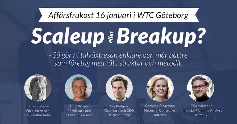 Scaleup eller breakup? Föreläsning med Tomas Enhager, Anna Wilson, Olle Rydqvist, Carolina Einarsson och Eric Härstedt