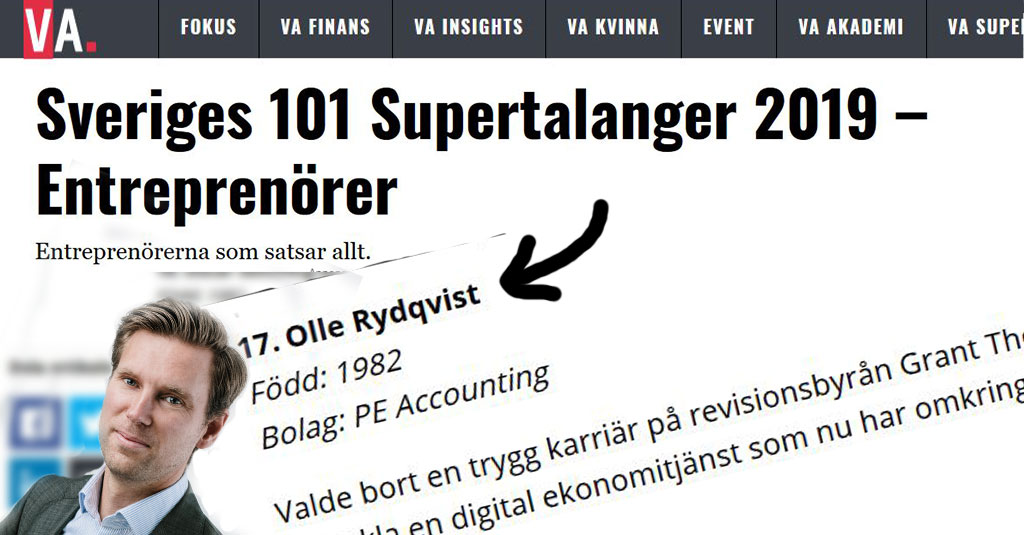 Olle Rydqvist, Supertalang 2019