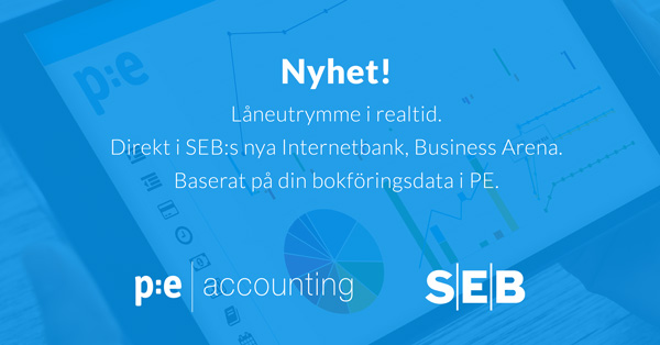 Låneutrymme i SEB baserat på din bokföring i PE Accounting