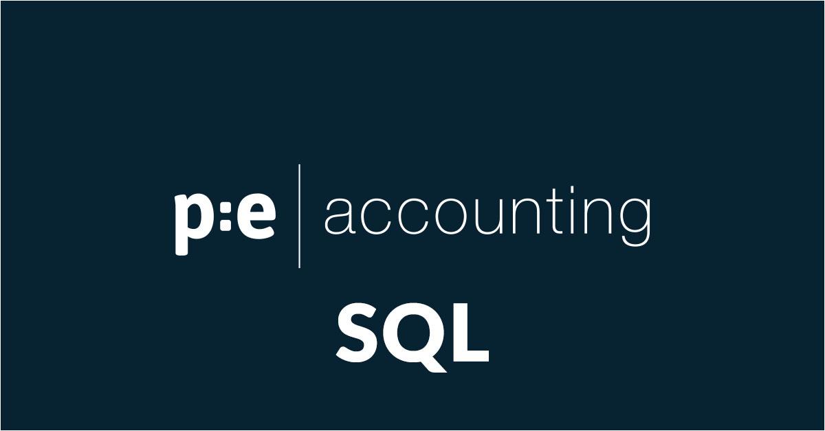 SQL databas för din data i PE Accounting