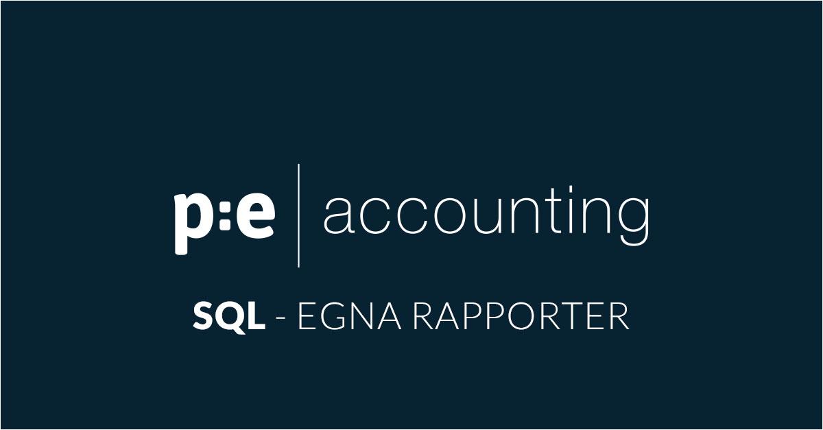 SQL Egna rapporter i PE Accounting
