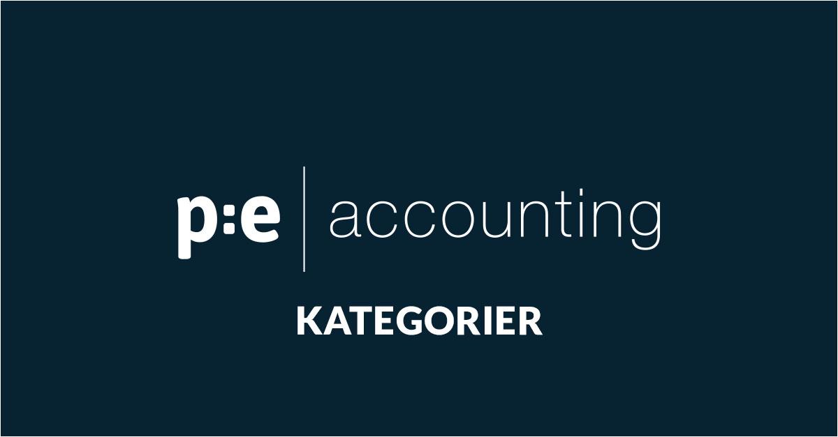 PE Accounting kategorier för automatisk uppföljning