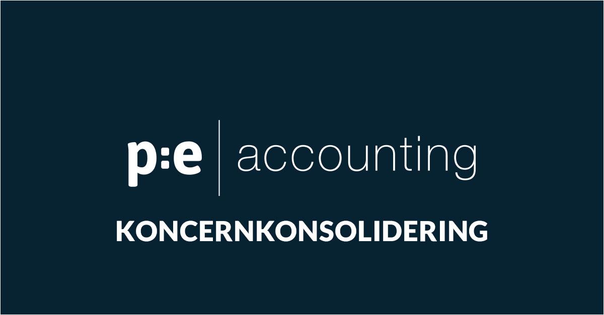 Koncernkonsolidering i PE Accounting