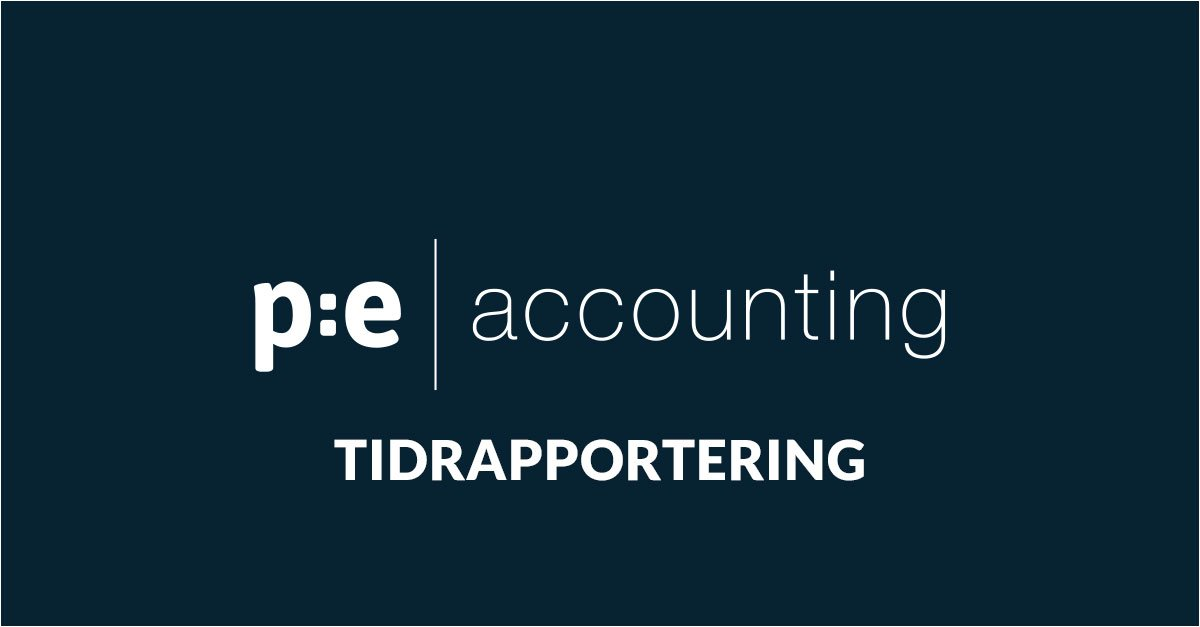 Tidrapportering i PE Accounting