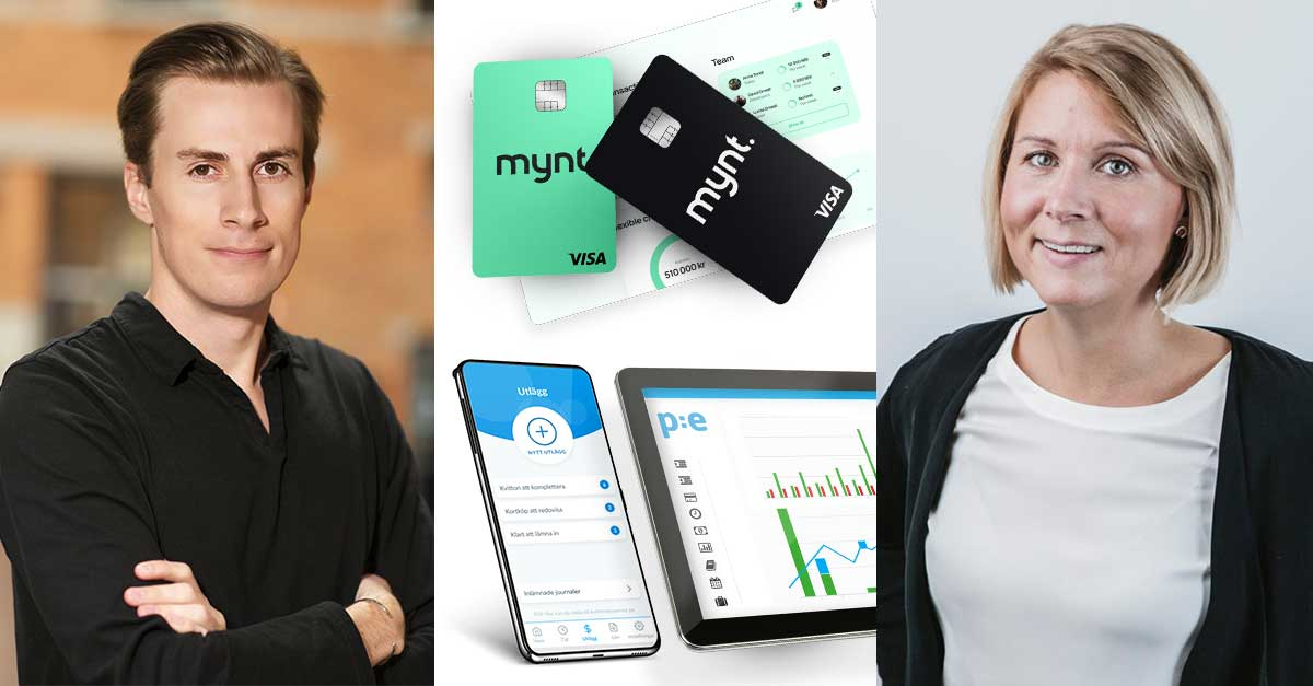 Företagskort, kvittoapp, utläggshantering, Mynt och PE Accounting