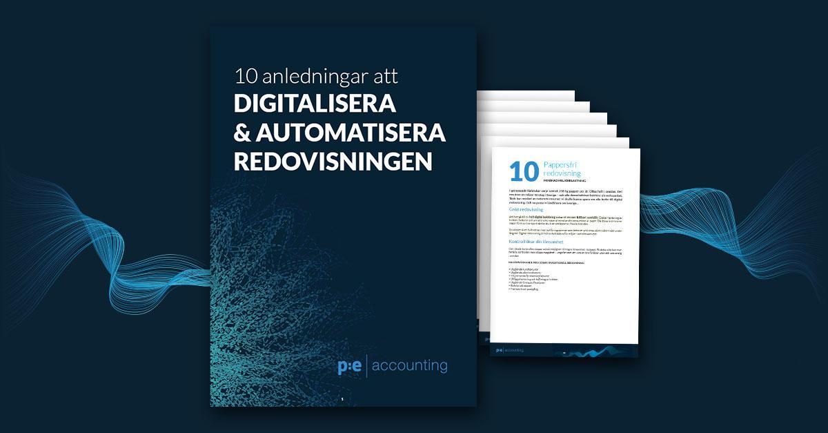 10 anledningar att digitalisera och automatisera redovisningen, guide